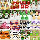10pcs Mixed Christmas Halloween Resin Flatback Hair Accessories Craft Decoration