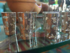 6 Mexican Hand-Chased Sterling Silver Overlay shot glasses