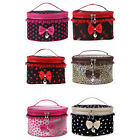 Fashion Girl's Sweet Bowknot Travel Makeup Storage Beauty Case Cosmetic Bag