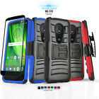 REFINED ARMOR COVER PHONE CASE & HOLSTER FOR MOTOROLA MOTO Z FORCE DROID +BUNDLE