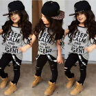 Cute Toddler Kids Baby Girls T-shirt Tops+Pants/ Outfits Clothes 2PCS Set New