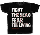 Official The Walking Dead Fight the Dead Fear The Living Adult Zombies T-Shirt  image
