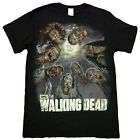 Official The Walking Dead Zombie Circle Blood Thirsty Walkers Adult T-Shirt image