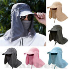 Unisex Outdoor Sport Fishing Hat UV Protection Face Neck Flap Man Sun Cap New