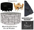 Large Round Waterproof Outdoor Furniture Cover Garden Patio Bbq Table Rain Cover