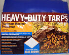 Extra Heavy Duty Waterproof Reversible Tarp Tarpaulin 3.6x4.8m Ground  Cover