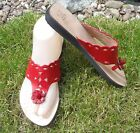 100% MOROCCAN LEATHER  FLIP FLOP SANDALS RED