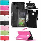 Stylish Leather Stand Wallet Flip Card Holder Soft Rubber Case Cover For Huawei