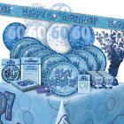 ALTER 60/60TH GEBURTSTAG BLAU GLANZ PARTY REIHE Ballon/Dekorationen/Banner/