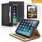 Folio Stand Case with Smart Cover Card Holder+3pcs Screen Protectors for iPad