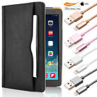 Luxury Leather Wallet Case Stand Lightning USB Cable iPad 2 3 4 Air Mini Pro