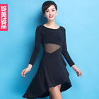 Adult Latin Dance Clothing Long-sleeved Dress Girls Skirts