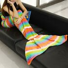 Mermaid Tail Blanket Warm Soft FLEECE Blankets For Kids Adults Bedding Bag Wrap
