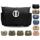 Deadpool Logo Army Heavyweight Canvas Messenger Shoulder Bag