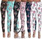 Women HIGH Waist Floral Jeggings Leggings Trousers Stretchy jeans Plus Sz 6-20