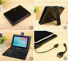 """7""""8""""9""""10.1"""" Leather Stand Case Cover For Samsung Android Tablet With Keyboad"""