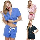 Ladies Short Sleeve Pajamas Set Sleepwear Leisurewear Home Wear Nightwear N98B