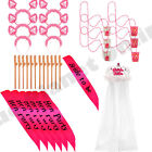 BULK BUY WHOLESALE PINK HEN PARTY BRIDE TO BE SASH GLASS STRAWS GIRLS NIGHT OUT