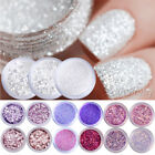 Nail Glitter Sequins Powder Nail Art White Silver Mixed Manicure 3D Decoration