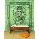 LARGE SELECTION - QUEEN INDIAN ELEPHANT MANDALA GANESHA TAPESTRY BEDSPREAD Beach
