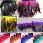 1M Rooster Hackle Coque Feather Fringe Craft Trim Sewing Dress Costume Millinery