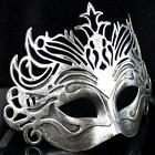 Vintage Men's Silver/Gold Roman Gladiator Crown Mask Masquerade Party Costumes