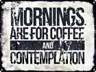 Stranger Things Mornings Are For Coffee And Contemplation Tin Sign 40.7x30.5cm