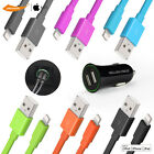 2x Apple Certified 3FT USB Sync Data Charger Cable iPhone 6s/7 Plus &Car Charger