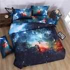 3d Mysterious Boundless Galaxy Red Sky Starry Night Bedding Sets Twin Full