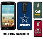 For LG K10 / Premier LTE - Official NFL Hybrid Rugged Armor Skin Case Cover
