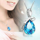 Charm Women's Silver Chain Crystal Rhinestone Pendant Necklace Jewelry Gift