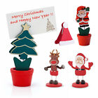 12 x Christmas Table Place Card Holder Santa Hat Tree Reindeer Decoration Xmas