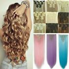 Kyпить 100% Natural New Hair Clip in Hair Extensions 8 Pieces Full Head Long As Human на еВаy.соm