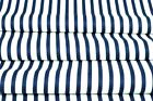 LOVELY, navy blue and white stripes FABRIC 100%COTTON 160cm wide
