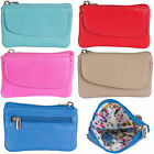 GOLUNSKI SOFT LEATHER WOMENS TOP ZIP COIN PURSE, DIFFERENT COLOURS 0-332 image
