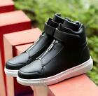 New fashion Men's Leather Casual High Top Ankle Boots Comfy Sport Shoes Sneakers