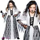 Girls Ghastly Ghost Zombie Corpse Bride Spirit Halloween Fancy Dress Costume