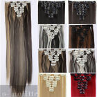 Extra THICK Clip In Hair Extensions Full Head curly straight 8piece as human sq9