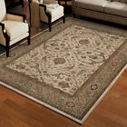 Beige Scrolls Curls Waves Traditional-Persian/Oriental Area Rug Floral 3213