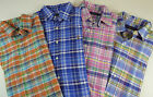 Polo Ralph Lauren Long Sleeve Plaid Oxford Cotton Shirt w/ Pony $98 NWT 4 Colors