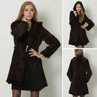 Real Knitted Mink Fur Long Coats Outwear Jacket Hoody Tailor-made Luxury Coats