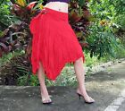 Wild Gypsy Pixie Coconut Tie Belly Dancing Short Skirt in Red size XL