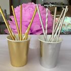 24 x Foil gold silver Favour Paper Drinks cup wedding Birthday Wedding Party
