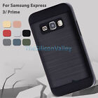 Hybrid Armor Brushed Case Dual Layer Cover for Samsung Express 3 Prime J1 J3 New
