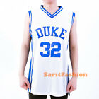 Christian Laettner #32 Duke Stiched Basketball Retro Jersey White Blue S-3XL New