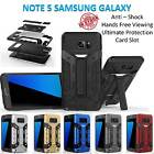 Samsung Galaxy Note 5 Armor Phone Case Cover Kickstand Shockproof Tradesman Card