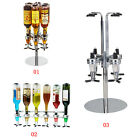 4/6 Drinks Bottle Stand Optics Dispenser Wine Bar Butler Wine Rack Stand Holder