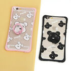 New Cartoon Bear Ring Kickstand Shockproof Case Phone Cover For Iphone 6 6s Plus