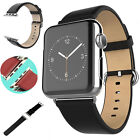 Leather Watch Band Strap Bracelet For Apple Watch iWatch 38mm/42mm + Adapters