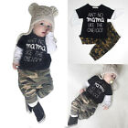 2pcs Toddler Baby Kids Boy T-shirt Tops+Long Pants Trousers Outfits Clothing Set